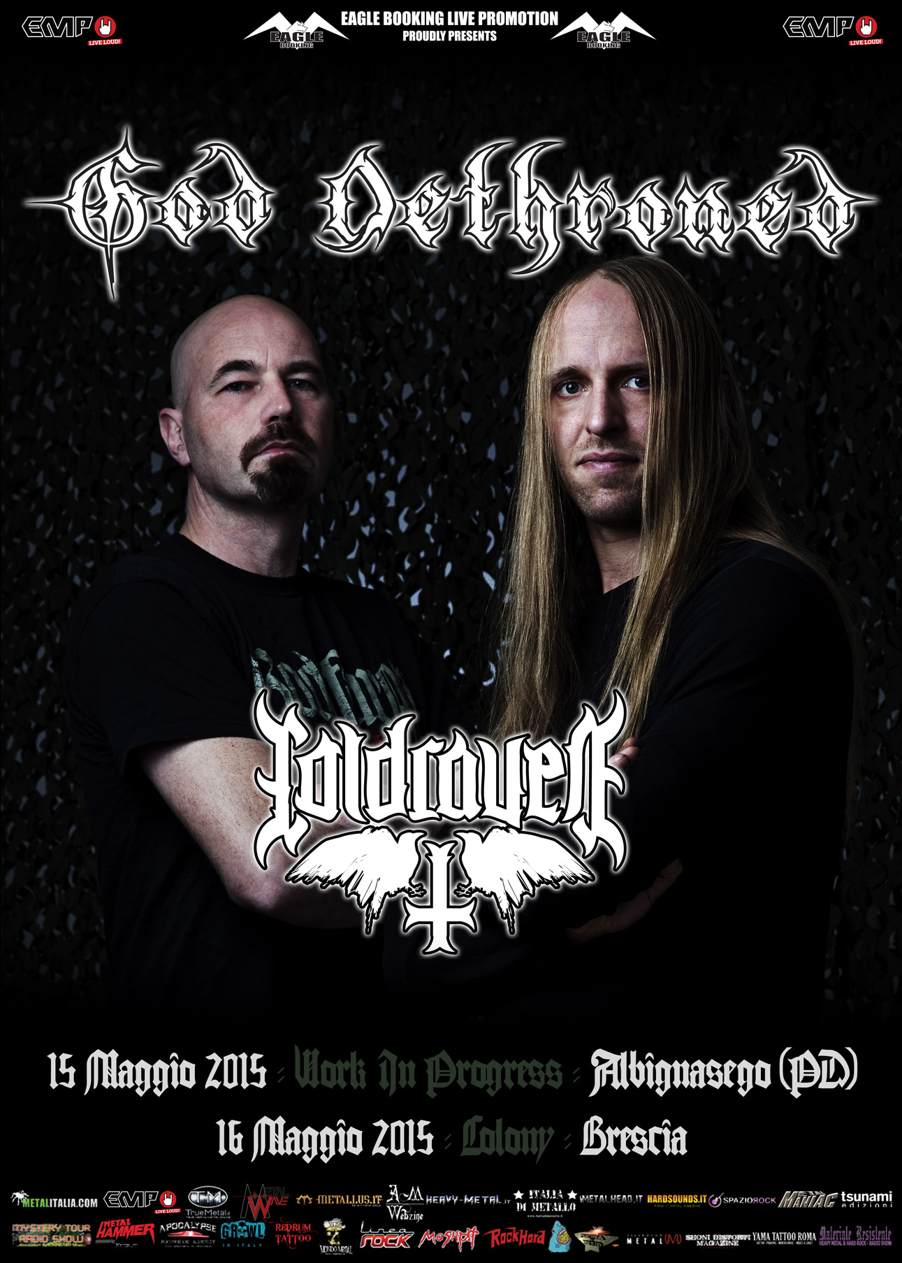 God dethroned italian show promo web 2015
