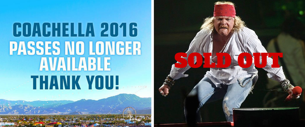 Guns n roses sold out coachella