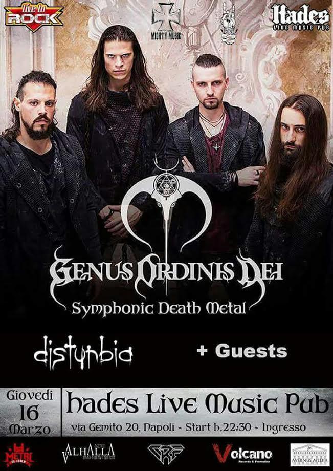 Genus Ordinis Dei + Disturbia + guests @Hades (NA) 16/03/17 @ Hades Live Music Pub | Napoli | Campania | Italia