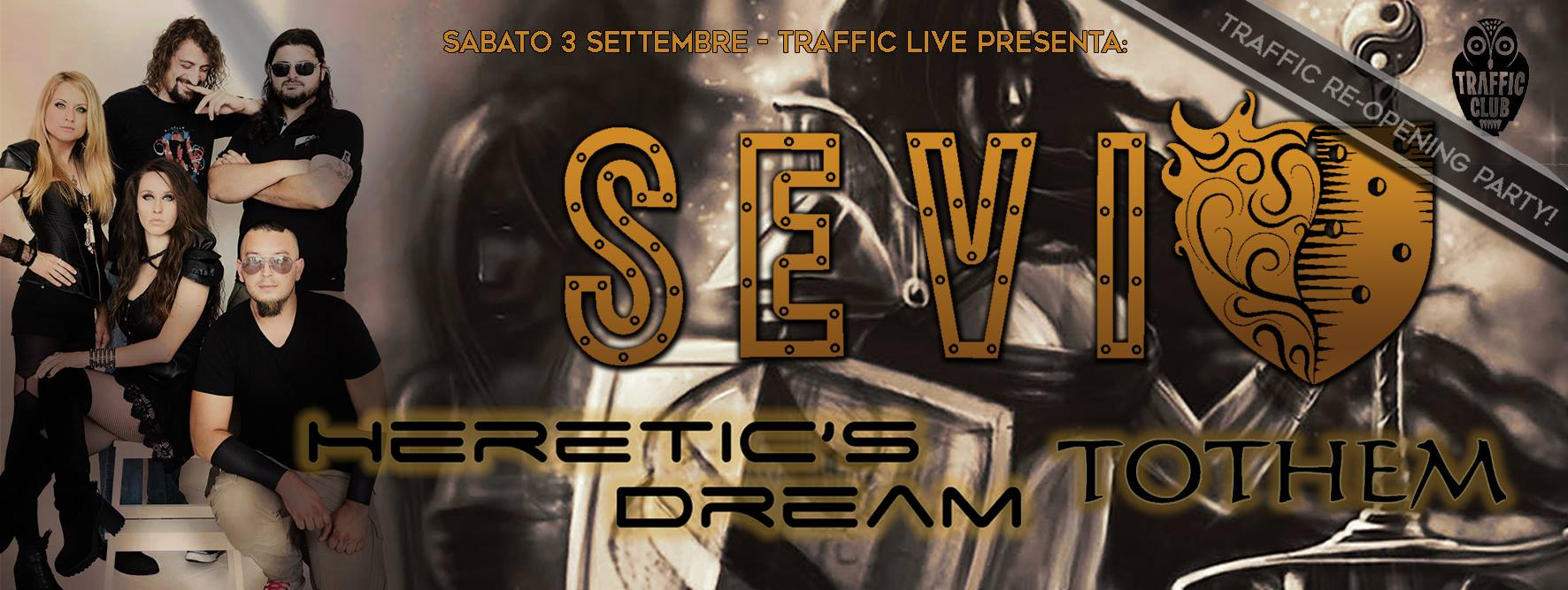 SEVI, Heretic's Dream, Tothem at Traffic Live (re-opening party) @ Traffic Live  | Roma | Lazio | Italia