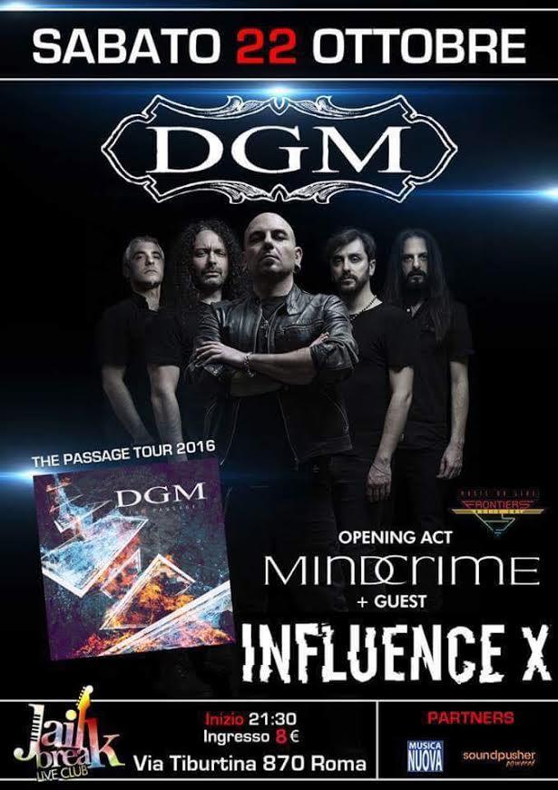 DGM Release Party con Mindcrime e Influence X @ Jailbreak Club  | Roma | Lazio | Italia