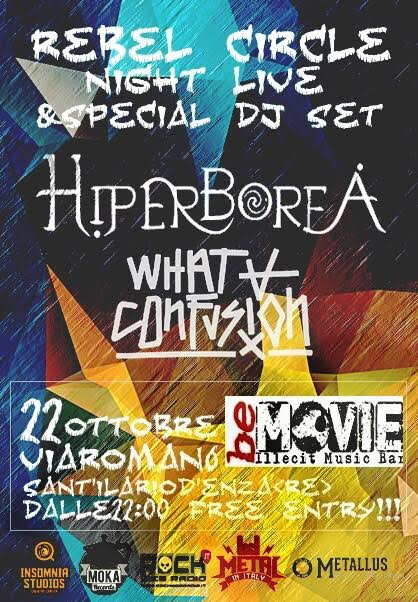 Rebel Circle Night: Hiperborea & What a Confusion @ Rebel Circle  | Sant'Ilario d'Enza | Emilia-Romagna | Italia