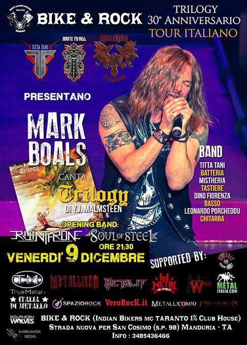 Mark Boals - Ruinthrone - Soul of Steel @ Bike&rock | Manduria | Puglia | Italia
