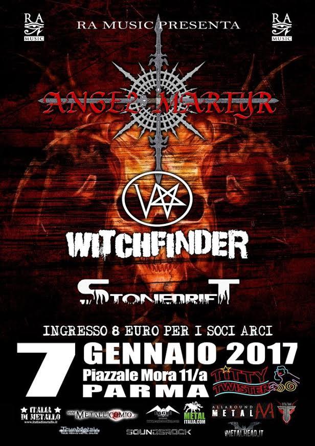 Angel Martyr, Witchfinder (DE), Stonedrift @ TITTY TWISTER    Parma   Emilia-Romagna   Italia