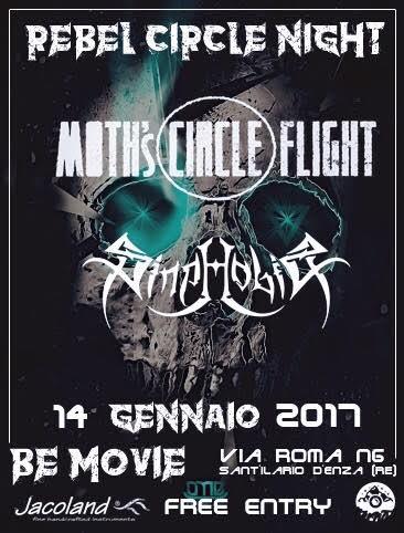 Rebel Circle Night: Moth's Circle Flight & Sinphobia @ Rebel Circle    Sant'Ilario d'Enza   Emilia-Romagna   Italia