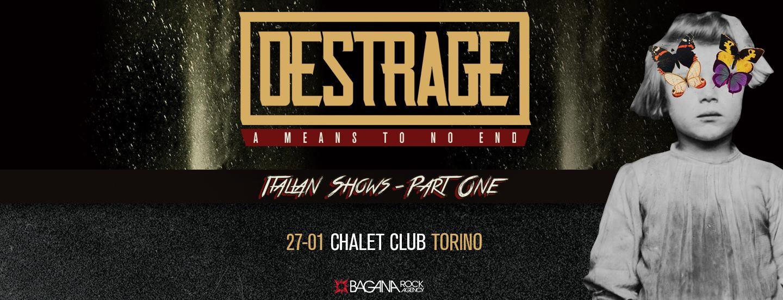 Destrage at Chalet Club, Torino - Venerdì 27 Gennaio 2017 @ Chalet Club | Torino | Piemonte | Italia