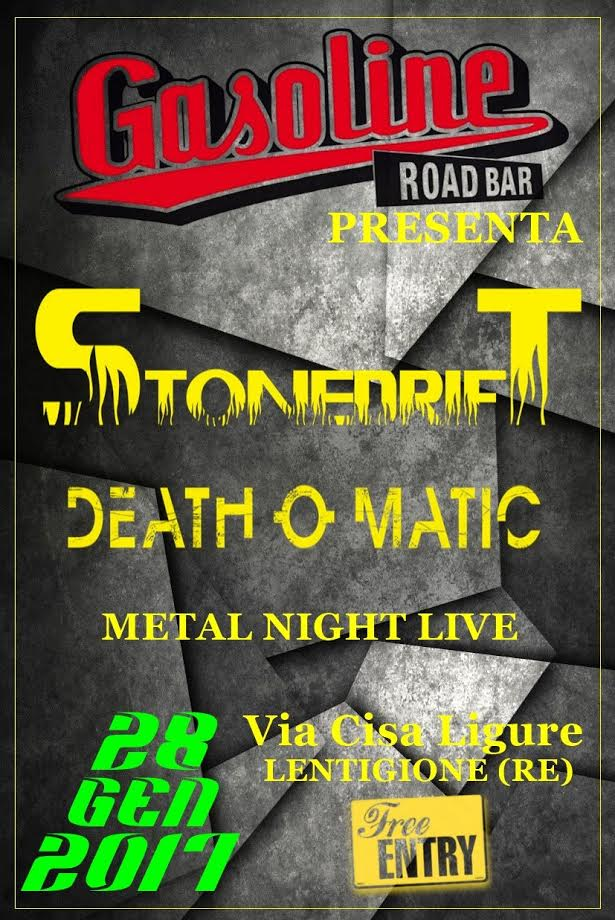 Stonedrift & Death O Matic live at Gasoline Bar @ GASOLINE ROAD BAR