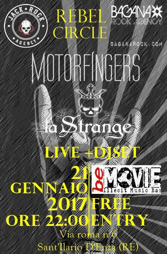 Rebel Circle Night: Motorfingers & La Strange @ Rebel Circle | Sant'Ilario d'Enza | Emilia-Romagna | Italia