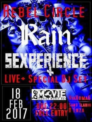 Rebel Circle Night: Rain & Sexperience +DjSet con Dj Graziano @ Rebel Circle  | Sant'Ilario d'Enza | Emilia-Romagna | Italia