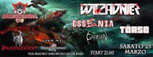 Beerstruction & Blasphemous Art presenta: Witchunter + Guests @ Garagesound | Bari | Puglia | Italia