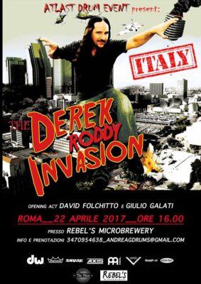 Derek Roddy Drum Clinic Roma @ Rebel's Microbrewery  | Roma | Lazio | Italia