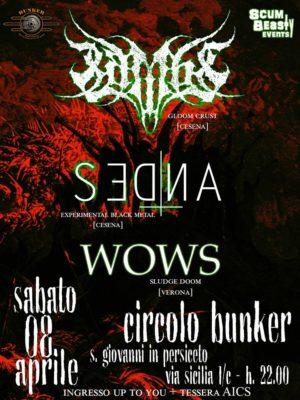Lambs, Sedna, Wows @Circolo Bunker @ Circolo Bunker   San Matteo della Decima   Emilia-Romagna   Italia
