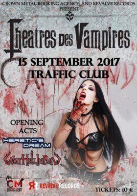 Theatres Des Vampires +Heretic's Dream + Wait Hell In Pain Live At Traffic - Roma @ Traffic Live  | Roma | Lazio | Italia