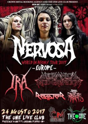 Nervosa + Ira, MGC, Reapter, ROT - Live at The One @ The One Metal Live  | Cassano d'Adda | Lombardia | Italia
