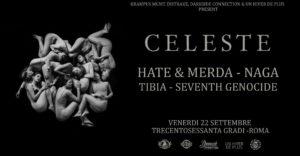 Celeste/Hate&Merda/Naga + guests @Trecentosessanta Gradi - Roma @ Trecentosessantagradi Roma    Roma   Lazio   Italia