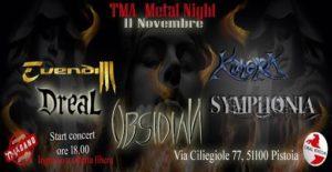 TMA Metal Night: Evendim / Symphonia / Dreal / Obsidian / Kimera @ Circolo aziendale breda  | Pistoia | Toscana | Italia
