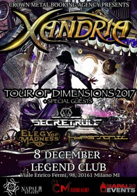 Xandria Live At Legend Club@Secret Rule+EOM-Hypersonic @ Legend Club Milano | Milano | Lombardia | Italia