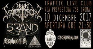 MartyriuM, 5Rand, Asphodelia, Setanera at Traffic Live; Rome @ Traffic Live | Roma | Lazio | Italia