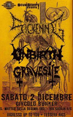 Sickening - Unbirth - Gravesite @Circolo Bunker @ Circolo Bunker | San Matteo della Decima | Emilia-Romagna | Italia