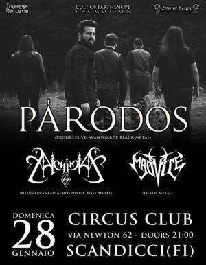 Pàrodos / Alchimia / Madvice: live al Circus Club di Scandicci @ Circus club  | Scandicci | Toscana | Italia