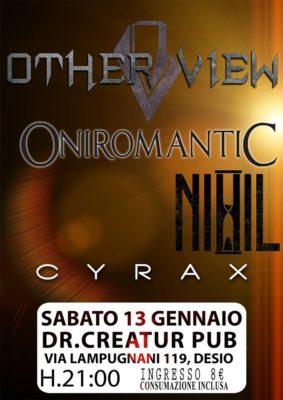 Other View Oniromantic Nihil Cyrax @ Dr Creatur Disco Pub  - Specialista in Miracoli!  | Desio | Lombardia | Italia