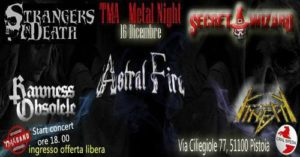 TMA Metal Night : Kinetik / Rawness Obsolete + Guest @ Circolo aziendale breda | Pistoia | Toscana | Italia