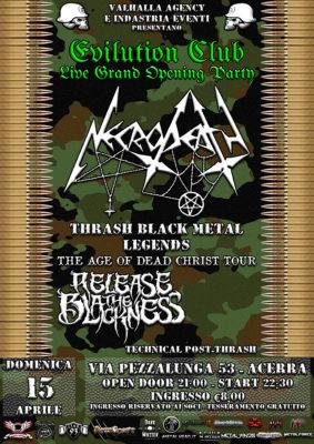 """Necrodeath: A Napoli una data del """"The Age of Dead Christ Tour"""" @ Evilution Club"""