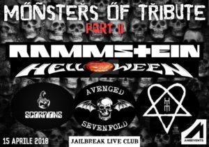 Monsters of Tribute part II: il 15 aprile al Jailbreak di Roma @ JAILBREAK LiveClub  | Roma | Lazio | Italia