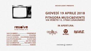 Resolve, Denhial, The Others, Ravine live al Pitagora Music&Events @ Pitagora Music&Events | Festara | Veneto | Italia