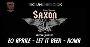SAXON (Oliver / Dawson) + Guests @ LET IT BEER, ROMA @ Let It Beer  | Roma | Lazio | Italia