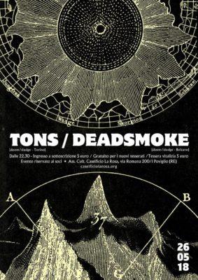 Tons + Deadsmoke live al Caseificio La Rosa @ Associazione Culturale Caseificio La Rosa | Poviglio | Emilia-Romagna | Italia