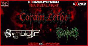TMA METAL NIGHT : Coram Lethe//Symbiotic//Celephais @ Exenzia Der Club | Prato | Toscana | Italia