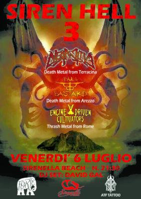 SirenHell 3 - Overactive / BullBastard / EngineDrivenCultivators @ Sirenella Beach  | Terracina | Lazio | Italia