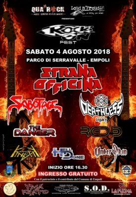 Rock On Fest: i dettagli della III edizione @ Parco di Serravalle | Empoli | Toscana | Italia