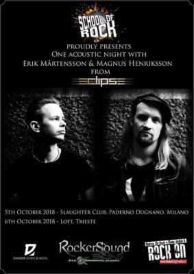 Erik Mårtensson & Magnus Henriksson degli Eclipse live allo Slaughter Club @ Slaughter Club  | Paderno Dugnano | Lombardia | Italia