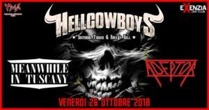 TMA Metal Night: Hellcowboys, Meanwhile In Tuscany, Adeptor @ Exenzia Der    Prato   Toscana   Italia
