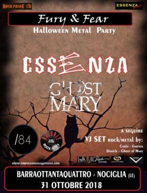 Halloween Metal Party: Essenza & Ghost Of Mary @ Barraottantaquattro    Nociglia   Puglia   Italia