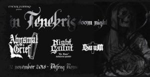 In Tenebris Doom Night: Abysmal Grief, Night Gaunt & SuuM @ Defrag   Roma   Lazio   Italia