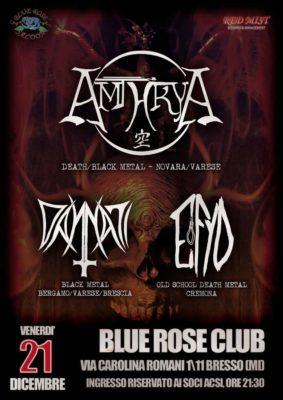 Amthrya: live al Blue Rose Saloon, con Dannati ed Efyd @ BLUE ROSE CLUB | Bresso | Lombardia | Italia