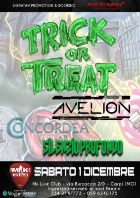 Trick or Treat + Avelion + guest @Mk Live Club @ MK Live Club   Carpi   Emilia-Romagna   Italia