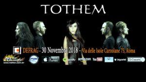 Tothem: live al Defrag (Roma) con gli Hellish Pain @ Defrag    Roma   Lazio   Italia